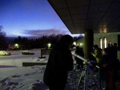 星空観察会~冬から春の星座へ、月の観察~