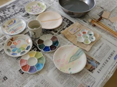4月の陶芸・絵付け体験