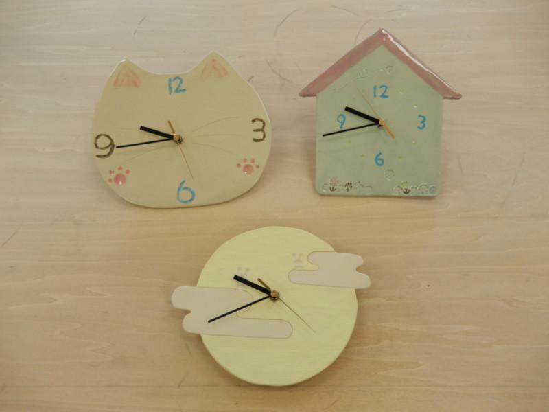 <中止>陶器の時計づくり体験