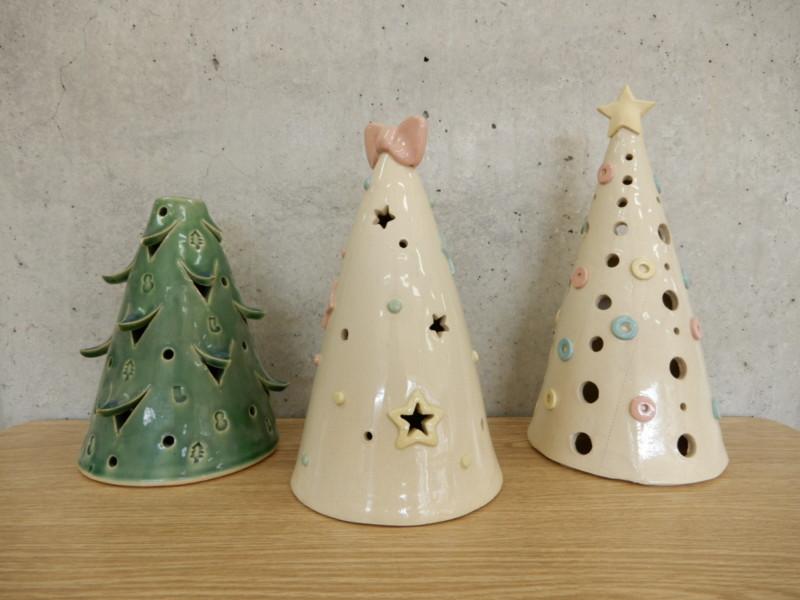 陶器のミニクリスマスツリーをつくろう